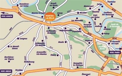 Plan de la ville de Mantes la Ville