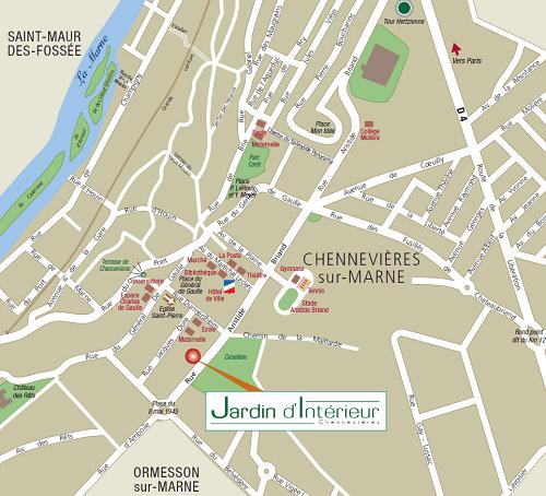 plan du programme immobilier situé à Chennevieres sur marne